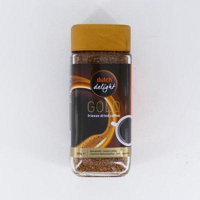 Dutch Delight gold oploskoffie pot 200 gr.